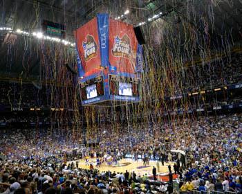 NCAA Final Four Basketball Court