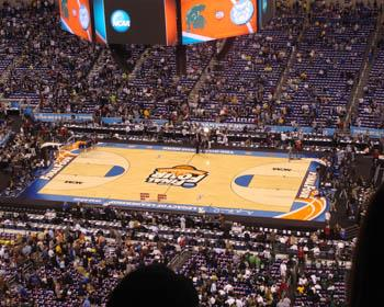 NCAA Final Four Basketball Dourt