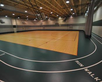Synthetic Gymnasium Flooring