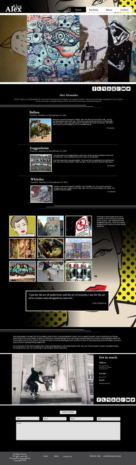 Comic Themed Layout