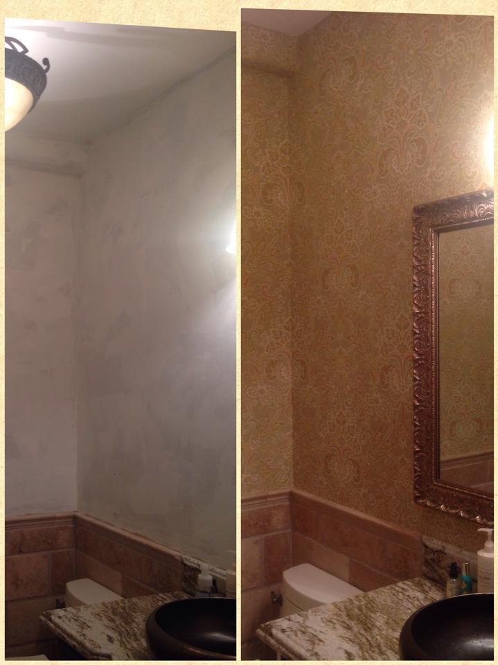 Before and After Wallcover