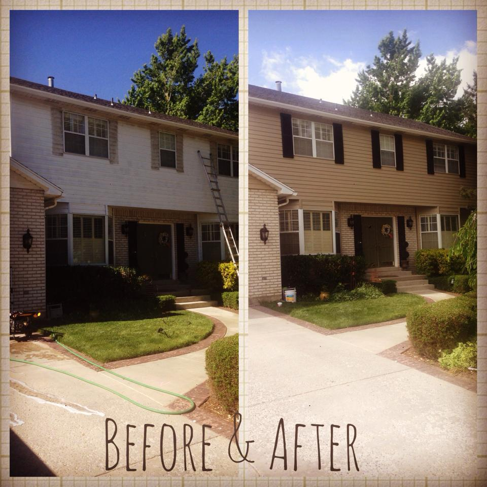 Before and After Exterior Painting