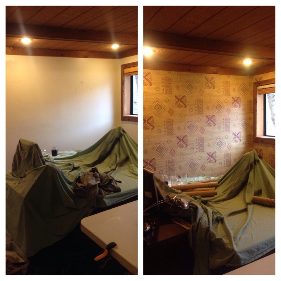 Wallcover Before and After