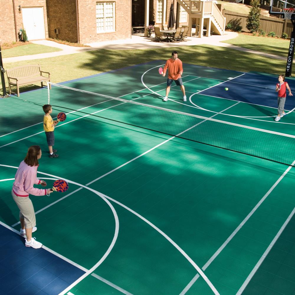 Backyard courts home gyms sport court of massachusetts for Homemade basketball court