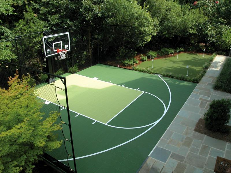 backyard courts home gyms sport court of st louis