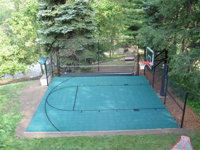 Backyard Sport Court Ideas i want to build a backyard multi sport game court now what Half Court Basketball Court