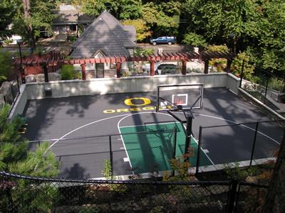 Oregon Backyard Basketball Court