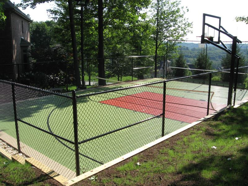 Family sport courts convenient backyard courts sport for Backyard sport court