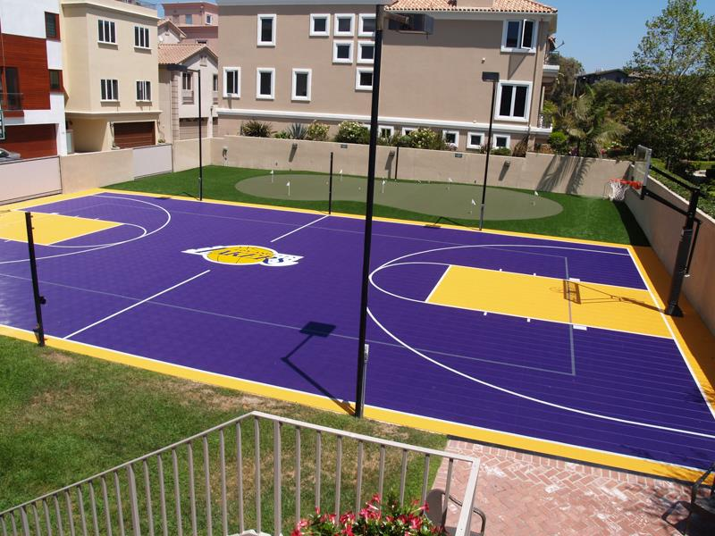 Backyard courts home gyms sport court of st louis Basketball court installation cost