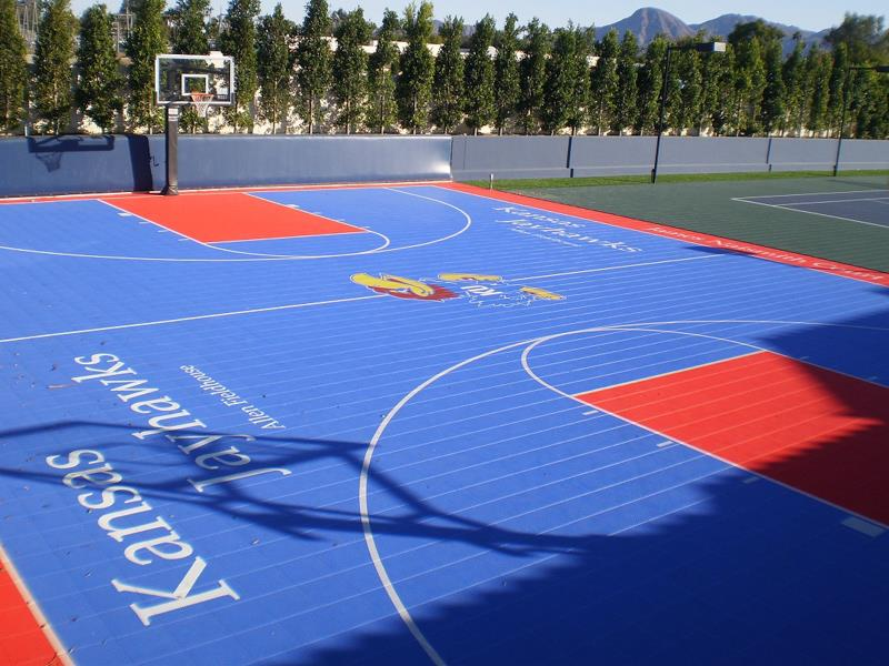 Backyard courts gallery sport court of southern california for Basketball sport court cost