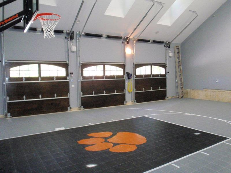 Family sport courts convenient backyard courts for House plans with indoor sport court