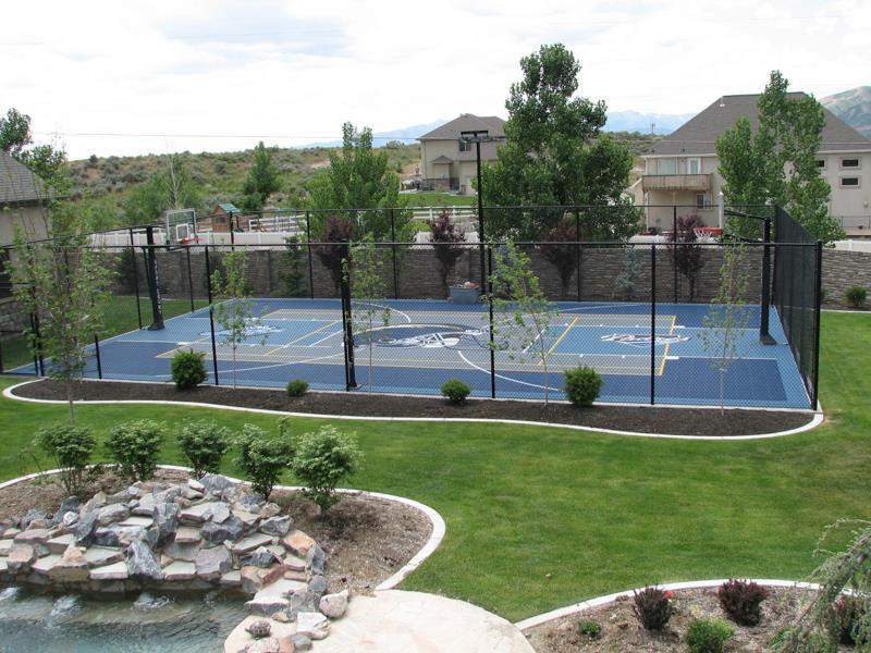 Backyard courts home gyms sport court of st louis for Backyard multi sport court
