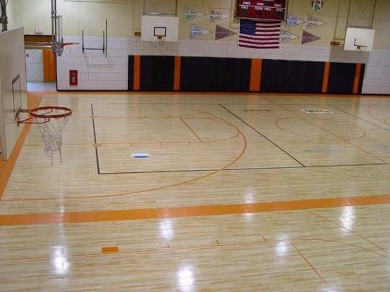 Community center facilities sport court for Sport court floor