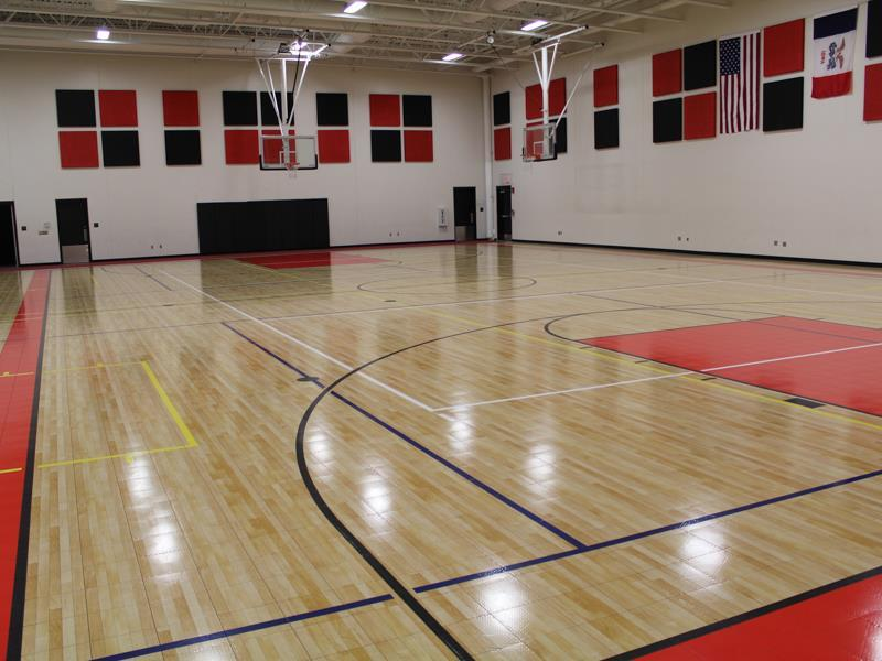 Image gallery indoor basketball court for How much does a sport court cost