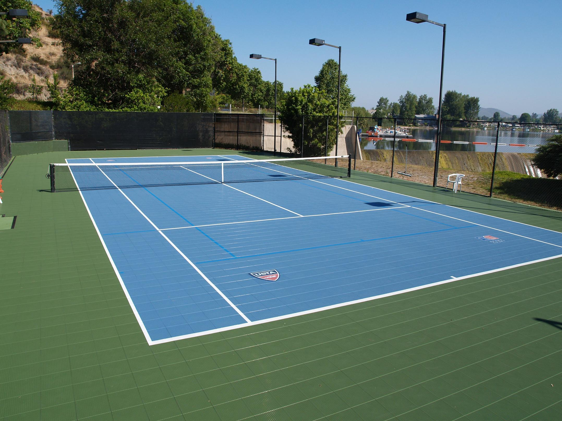 Tennis courts sport court of st louis for How much does a sport court cost