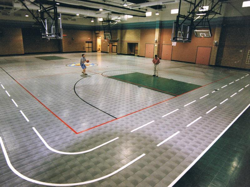 Community center facilities sport court for Sport court floor