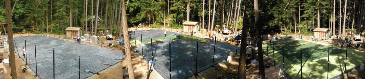 ZeroWaste manufacturer-backyard basketball courts