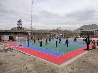 Orphanage plays futsal on Sport Court game court in Afghanistan