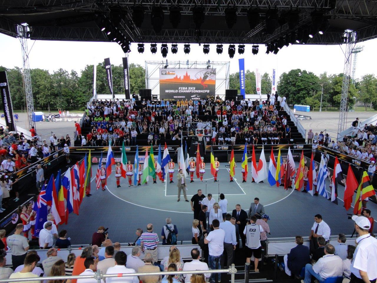Gold Medals awarded on the Sport Court basketball courts at the FIBA 3x3 World Championships