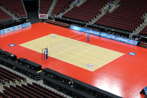 NCAA Women's Division I Volleyball Championship to be Played on Sport Court Courts