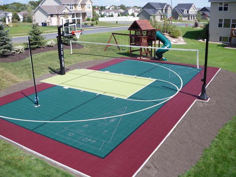 Family Sport Courts Convenient Backyard Courts