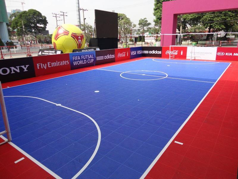 Futsal courts and soccer courts sport court sport court for Indoor sport court dimensions
