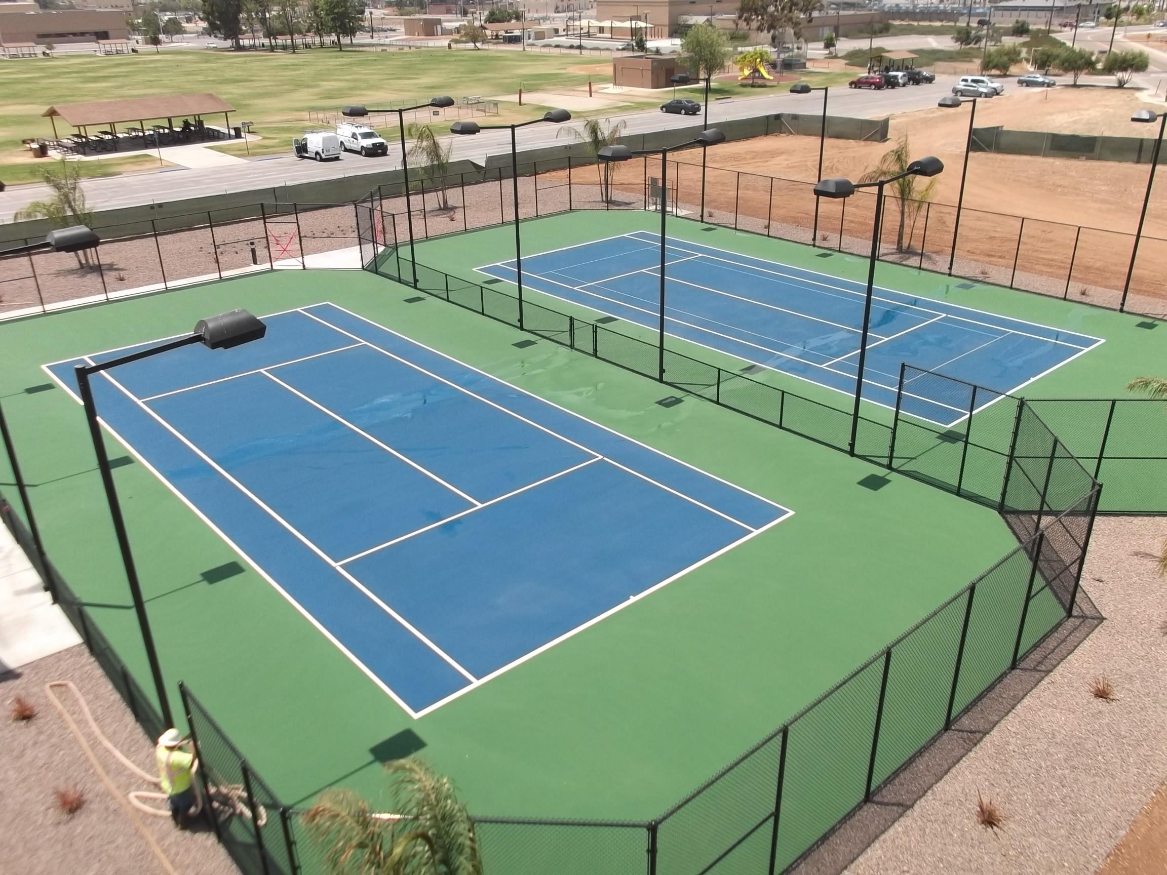 Tennis court lighting layout home decor for How much does it cost to build a sport court