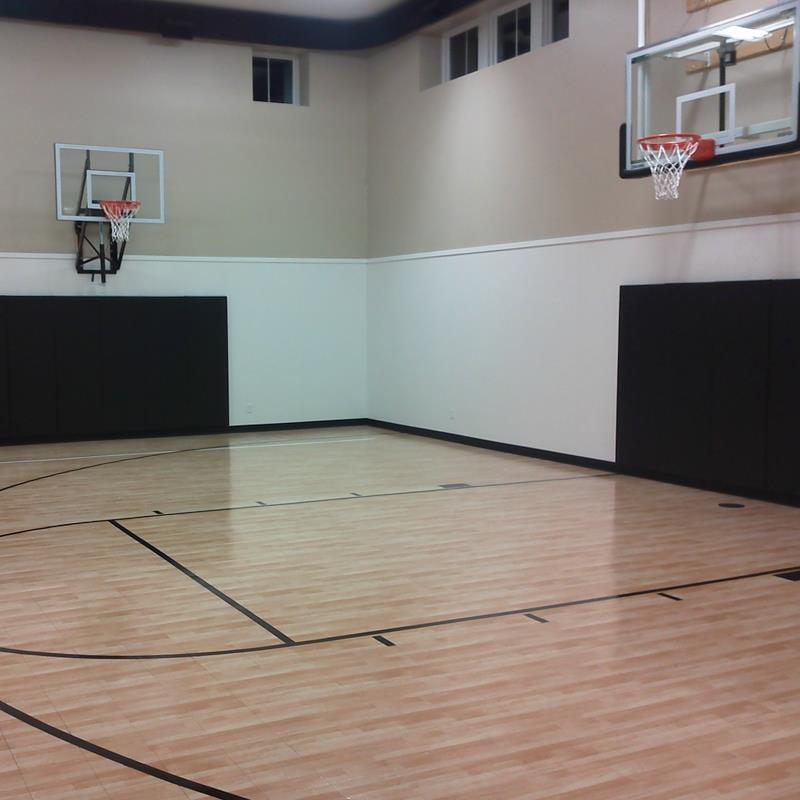 Backyard Basketball Courts And Home Gyms Sport Court
