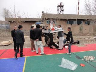 Basketball Hoop install in Afghanistan