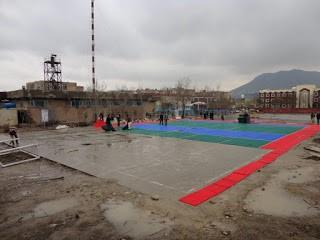 Sport Court install in Afghanistan